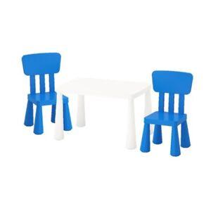 Mammut Ikea Kinder Tischstuhl Set Weißblau Drinnendraußen Sitz