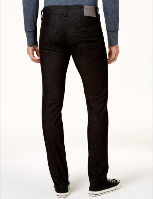 75b2ab6c2 Rocco Skinny True Religion Men Corduroy Jeans 32 33 34 36 38 Black  MDBJ60N29R