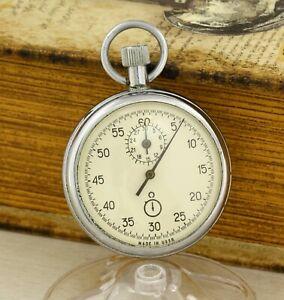 AGAT mechanical sport stopwatch pocket chronometer, 15 Jewels 1980's Zlatoust