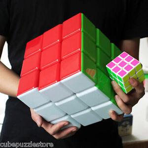 Heshu 3X3X3 Extra Large Magic Cube Twist Puzzle Intelligence Toys Rainbow 18 cm