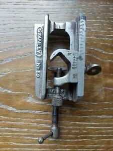 Vintage-Stanley-No-59-Doweling-Jig-Clamp-Vise-Woodworking-Tools-USA