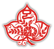 "Snake Chinese Zodiac Sign Car Bumper Sticker Decal 5"" x 5"""