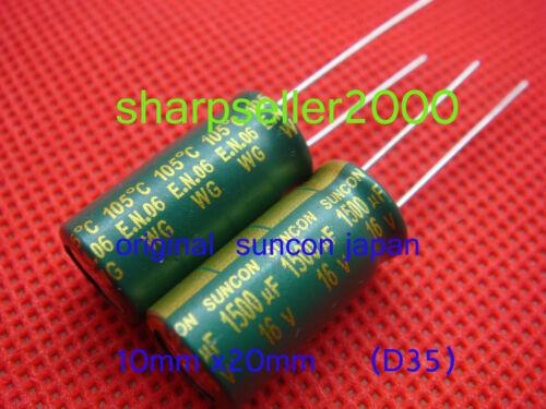 25PC ORIGINAL Suncon 16V 1500uF Motherboard Capacitor Japan New Free Shipment
