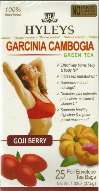 Hyleys 100 Natural Garcinia Cambogia And Goji Berry Slim Green Tea
