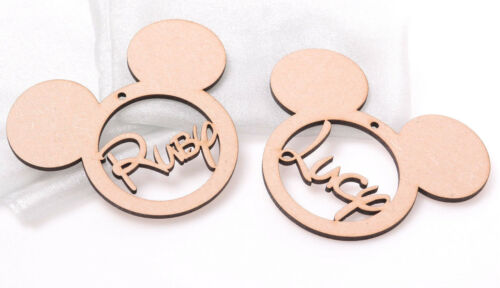 Large Wooden Mickey Mouse Bauble Personalised Disney Christmas Decoration 130mm