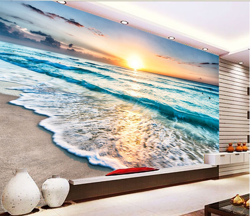3D Sunlight Waves 996 Wall Paper wall Print Decal Wall Deco Indoor wall Mural