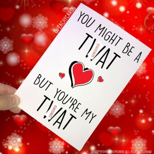 Funny T*at Birthday Cards,You/'re A T*at My T*at Joke Girlfriend Boyfriend PC276
