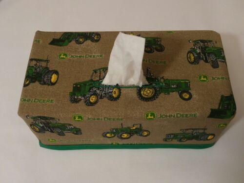 Handmade John Deere Tissue Box Cover rectangle