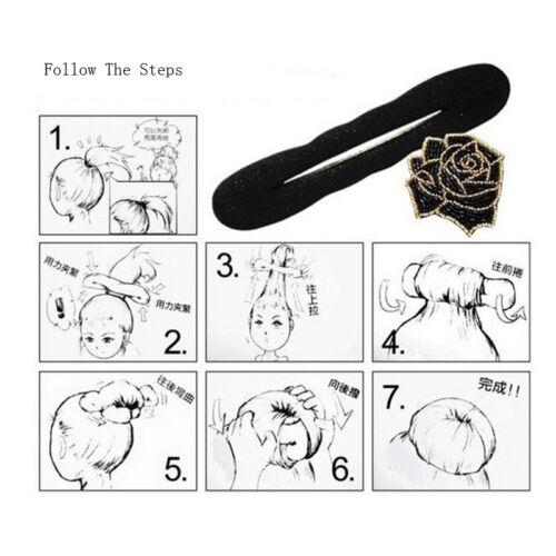 Magic Sponge Clip Schaum Donut Hair Styling Brötchen Lockenwickler Werkzeug