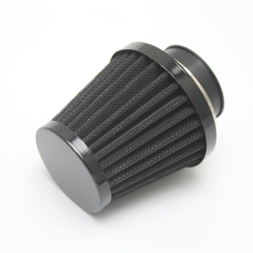 Black 50mm Mushroom Head Air Filter Cleaner Motorcycle For Honda Kawasaki Suzuki