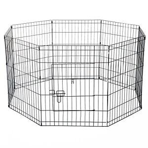 PawHut-Recinto-per-Cani-Gatti-Roditori-Recinzione-Rete-Gabbia-76-x-61cm-Nero