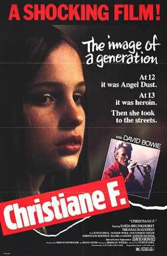 CHRISTIANE F. original 1981 27x41 one sheet movie poster DAVID BOWIE