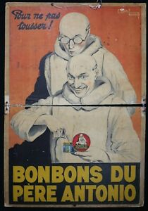 Edward-Courchinoux-1891-1968-Poster-Advertising-Candy-of-Father-Antonio