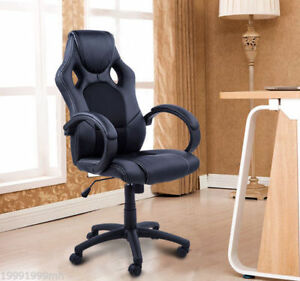 """Details about 46 5"""" Rac Car Style Office Gaming Chair Hydraulic Computer  Chair"""
