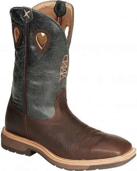Twisted X Boots Men's  MLCS006 Lite Weight Work Boot Safety Steel Wide Sqr Toe
