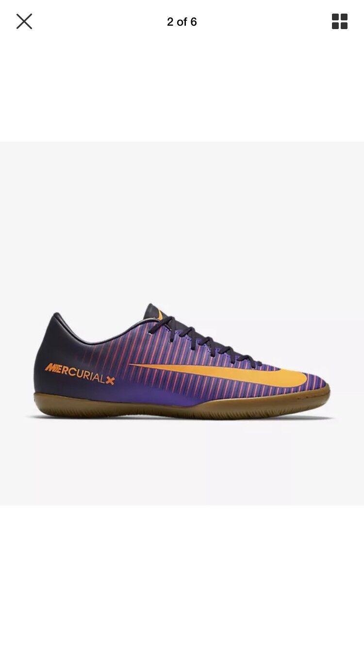 Nike MercurialX Victory VI IC Mens Purple Dynasty 831966-585 Mens Sz 7.5 Wmns 9