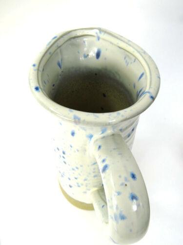 Carafe vintage style rustique bleu et blanc effet vieilli Ornementale Vase Récipient