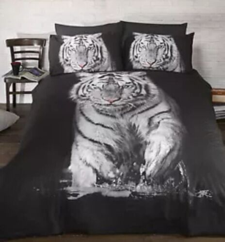 White Tiger Photographic print Duvet Set Single CHEAPEST ON