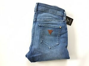 Guess-Women-s-Power-Stretch-Skinny-Jeans-Medium-Blue-ankle-Zip-Size-25