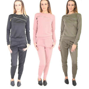 Women Ladies Long Sleeve Lounge Wear Set Casual Comfy Two Piece Tracksuit Suit
