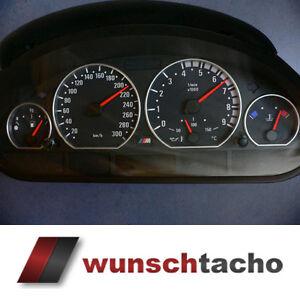 Tachoscheibe-fuer-Tacho-BMW-E46-Benziner-M3-Scalierung-300-Kmh