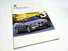 1999 BMW 3-Series 318iC 323iC 328iC Cabriolet E36 Brochure