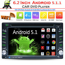 "6.5"" Android 5.1 Double 2Din Car Radio Stereo DVD Player GPS Nav OBD BT 3G WiFi"