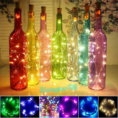 20 LED 2M Cork Shaped LED Night Starry Light Wine Bottle Lamp for Xmas Wedding