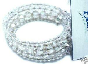 NEW-GORGEOUS-CRYSTAL-BEAD-SPIRAL-BRACELET-CLEAR-AB