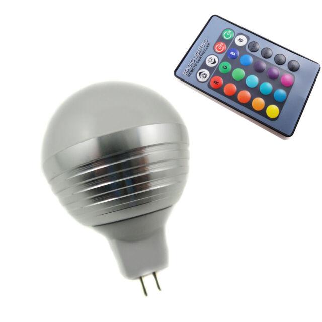 3W E14 MR16 GU10  E27 RGB LED Light Bulb Lamp IR Remote Control 16 Colors Change