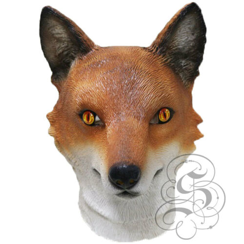 Latex FOX Halloween Stag Hen Props Play Woodland Head Realistic Party Mask