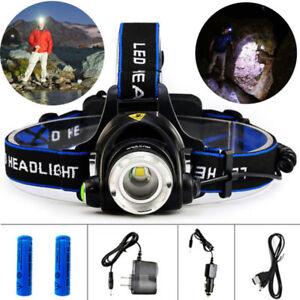 9000LM-XML-T6-LED-Headlamp-Headlight-Adjustable-Focus-18650-ZOOM-Head-Light-Lamp