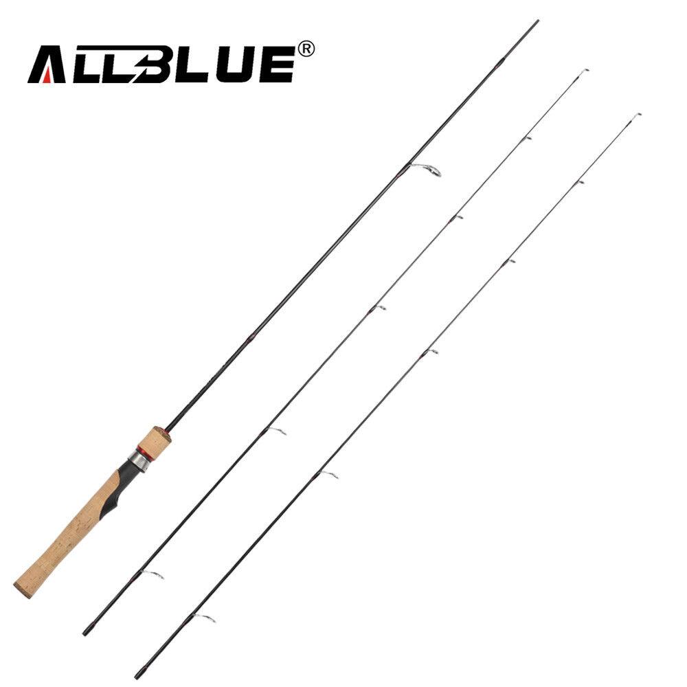 ALLblueE Viking Spinning Rod 2 Tips 1.68m Ultralight 2-8LB  Carbon Fishing Rod  global distribution
