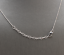 14K-Solid-White-Gold-Bar-Necklace-with-Diamond-Accent thumbnail 2