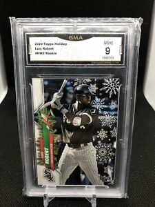 2020 Topps Holiday Luis Robert (Card #392) Rookie Card GMA Mint 9