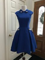Elegant Royal Blue Short  Pageant Interview Dress / Homecoming