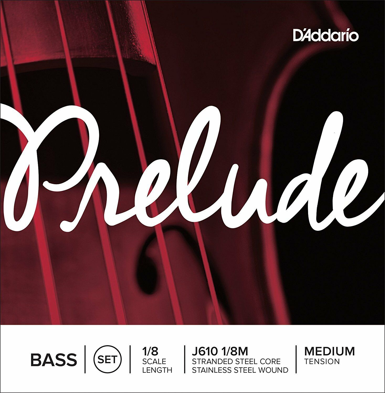 D'Addario Prelude Bass String Set 1 8 Scale Medium Tension