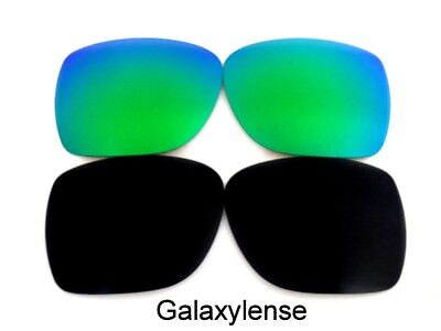 Galaxy Lenti Di Ricambio Per Spy Optic Helm Sole Nero & Verde Polarizzati Estremamente Efficiente Nel Preservare Il Calore