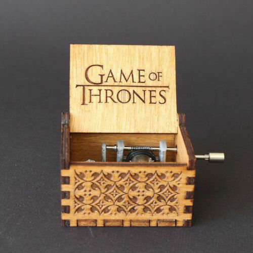 Harry Potter Game of Thrones Engraved Wooden Music Box Toys Theme Artisanal Gift