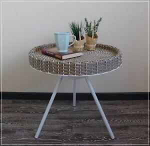 Couchtisch Beistelltisch Tablett Tisch Kunstrattan Garten Landhaus