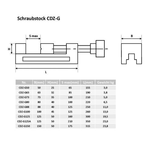 Schleifschraubstock BB=100mm,Präzisions-Schraubstock mit Gewindelspindel