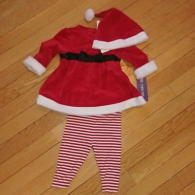 NWT InFant Boys Girl 2 pc Outfit Playsuit Hat Christmas Holiday Santa New Unused