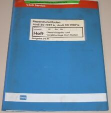 Werkstatthandbuch Audi 80 90 Typ 89 B3 Diesel Einspritzanlage Vorglühanlage 1,6l