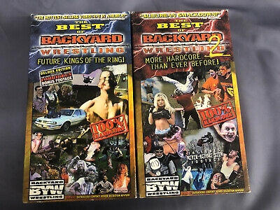 The Best Of Backyard Wrestling Vol 1 & 2 VHS Lot Extreme ...