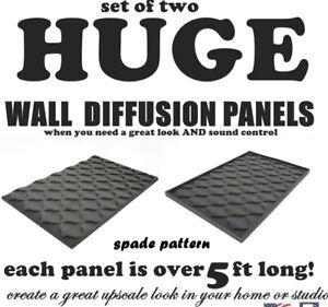 2 GIANT-SIZED Audio Acoustic SPADE recording studio foam sound deadening panels