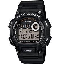 Casio Men's Digital Black Resin Band, 100 Meter WR, Vibration Alarm, W735H-1AV