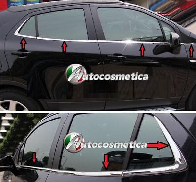 Vauxhall Opel Mokka Chrome Windows Frame Trim 8 pcs S.STEEL Mokka X 2012