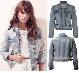 2d28ab758 Details about New Ladies Denim Jacket Women Falmer Heritage Fitted Vintage  Shirt Coat 8-20size