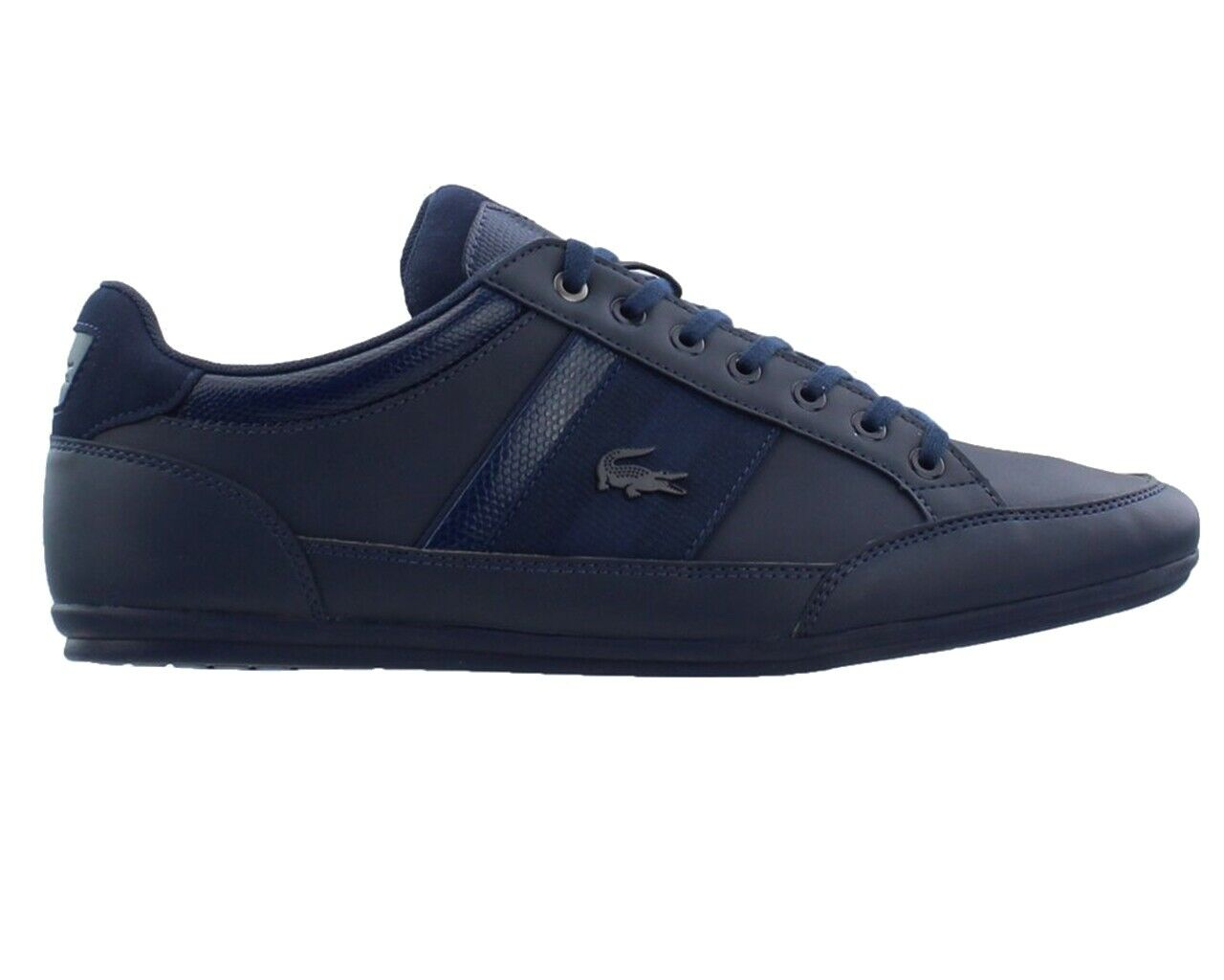 2c2f3bb834f56f Lacoste Chaymon 119 2 CMA Mens Trainers Navy Lace Up shoes ...