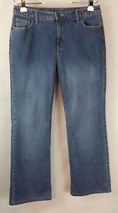 Lands-039-End-women-039-s-size-12-straight-leg-mid-rise-jeans